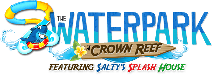 the waterpark at crown reet featuring salty's splash house