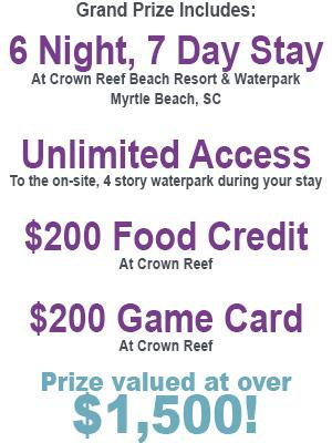 Crown Reef Prize Details