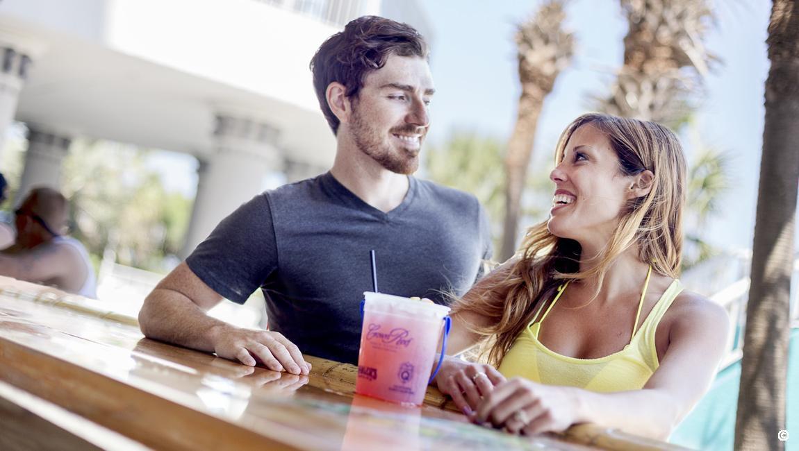 Couple at Pool Bar