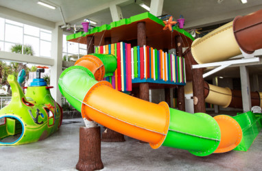 Treehouse Slide at the waterpark